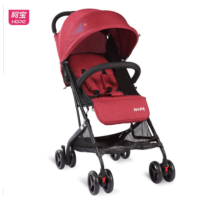 HOPE High View Baby Stroller Super Light Travel Car Plane Portable Baby Carriage Umbrella Car Can Sit Lie Baby Pram Wheelchair