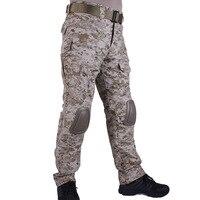 Hunting camouflage pants tactische Broek Desert Digital DD broek en kniebeschermers militaire game cosplay uniform