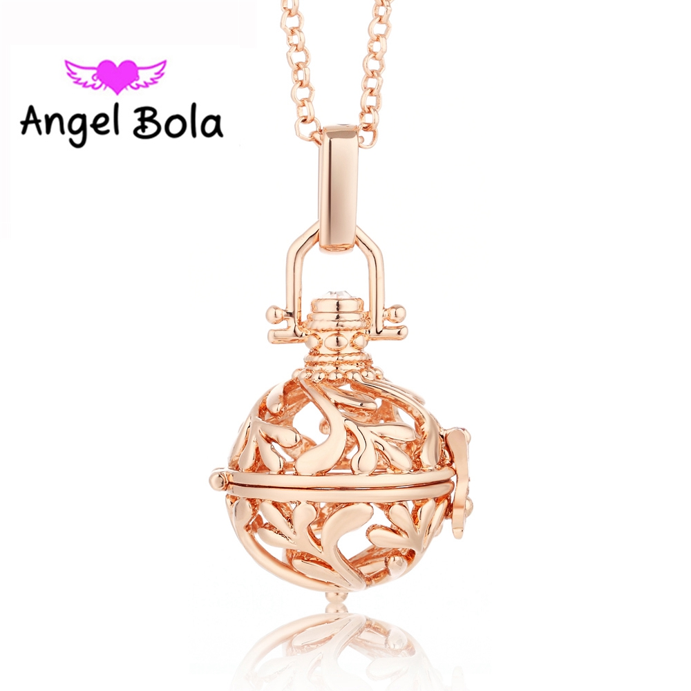 Pryme Angel Bola 10pcs/Wholesale 5 Color 20.5mm Eco-friendly Copper Engelsrufer Cage Lucky Pendants DIY Angel Ball Jewelry L015