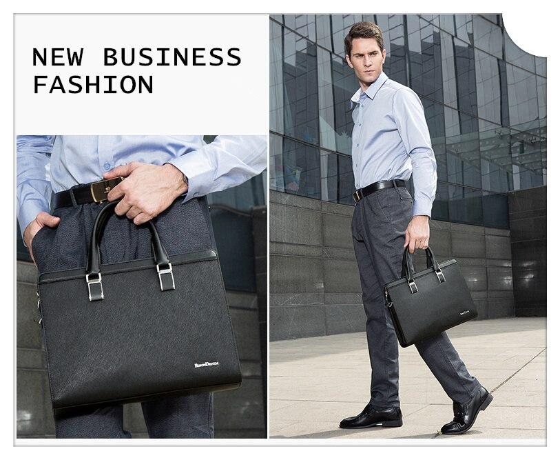 HTB1BFOpnrSYBuNjSspfq6AZCpXaX BISON DENIM Genuine Leather Handbag Men Business Messenger Bag 14'' Laptop Tablet leather Shoulder Bag Crossbody Male bags N2317