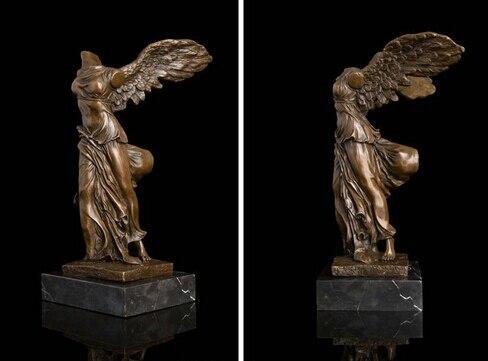 Bi003031 Книги по искусству деко Скульптура богиня правосудия бронзовая статуя