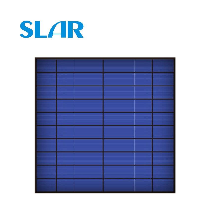 Solar Panel 5 v 4,5 watt 840mA 4,2 Watt Standard Epoxy Polykristalline Silizium DIY Batterie Power Ladung Modul Mini Solar zelle spielzeug