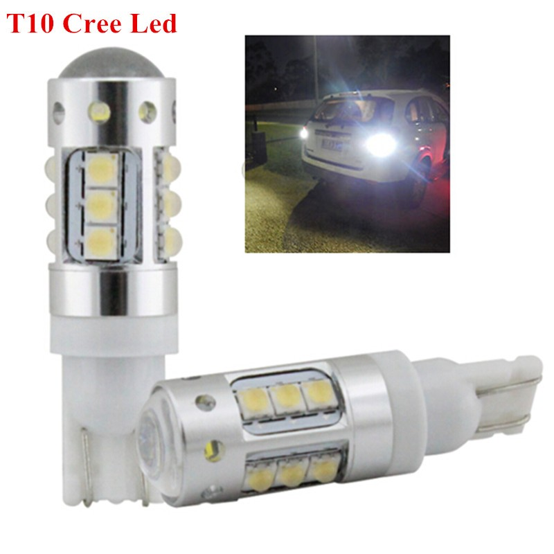 2 Pieces/lot White T10 194 W5W 80W CREE Chips LED Bulbs Extremely Bright Great update for DRL Backup Reverse Side Marker Lights 5 pieces lot d151811 3210