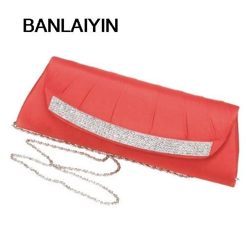 WholeTide 10*Red Diamond Handbags Long Ruffle Set Auger Dinner Packages цены