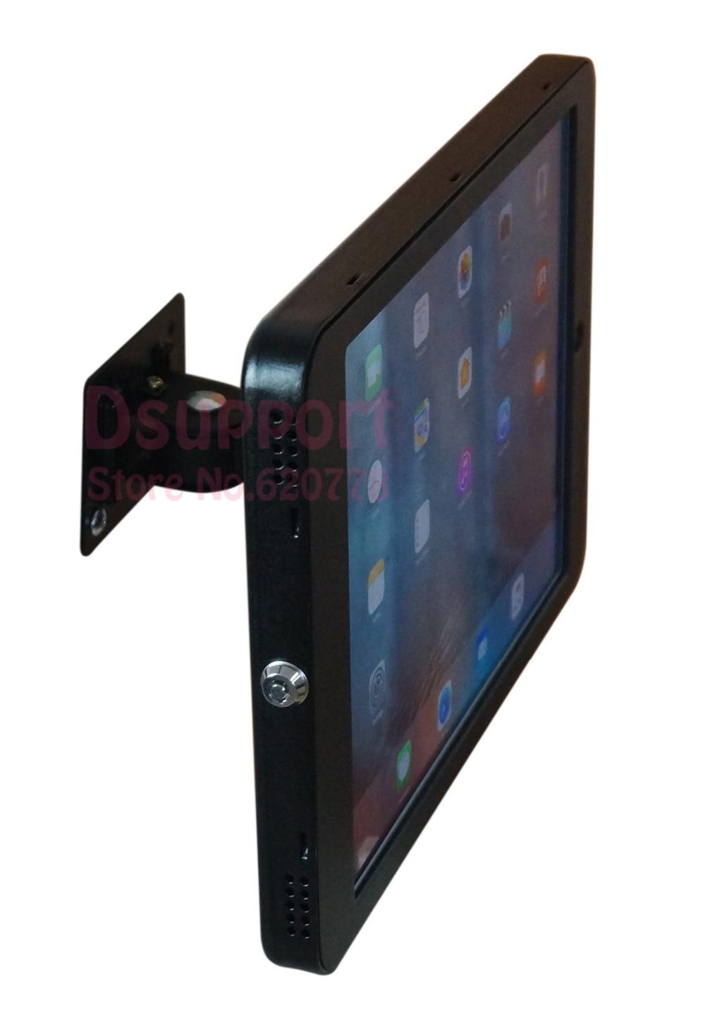 Wykonany na zamówienie uchwyt na stojak na tablet naścienny anty-złodziej dla tabletów uniwersalnych o różnym rozmiarze, z blokadą