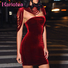 6fc0a9e5745e8 Karlofea Fashion Women Sleeveless Mini Dress Vintage Outfit Casual Dress  Removable Collar Stretch Velvet Strapless Bodycon