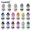 Novo freemax malha pro tanque 6ml sub ohm atomizador de fibra carbono freemax malha pro bobina vape resina tanque 17 cores vs zeus dupla rta