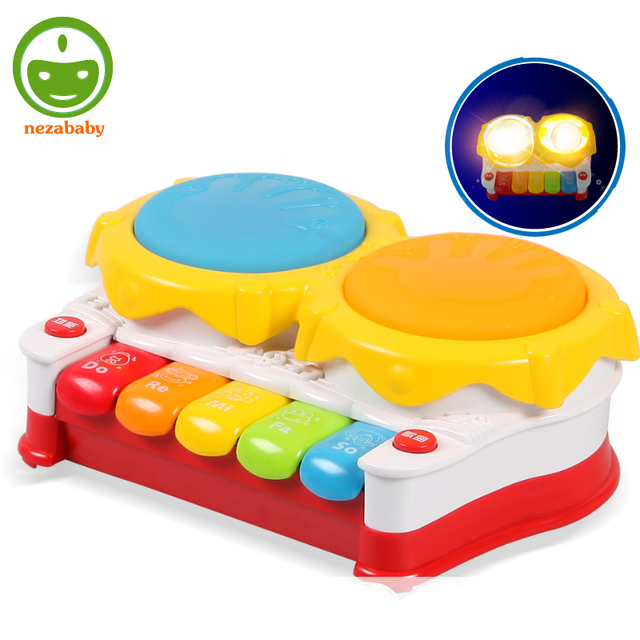Plastic Electronic Toys For Children Drums Music Toys Baby Piano Toy