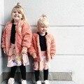 2016 OUTONO INVERNO crianças jaquetas casaco NOVA jaqueta de beisebol outerwear criança marrom rosa OUTWERAS ROUPA DOS MIÚDOS DO BEBÊ ROUPAS de MENINA