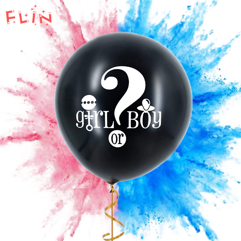 1pcs Giant Disclosure Inflatable Balloon He /she Gender Reveal Balloons Boy or Girl Baby shower Theme activity Decorations Kids(China)