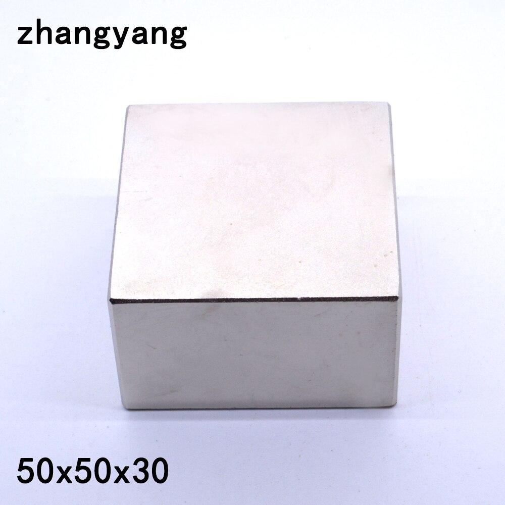 N52 1 pz Blocco 50x50x30 millimetri Super Strong Terra Rara magneti Al Neodimio Magnete 50*50 * 30mm 50x50x30mm