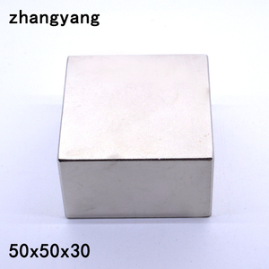 Image 1 - N52 1PCS 블록 50x50x30mm 슈퍼 강한 희토류 자석 네오디뮴 자석 (3 크기: 50x50x30mm 또는 50x50x25mm 또는 40x40x20mm)
