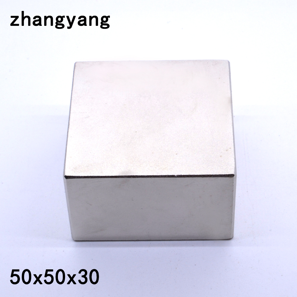 N52 1PCS Block 50x50x30 mm Super Strong Rare Earth magnets Neodymium Magnet 50*50*30 mm 50x50x30mm image