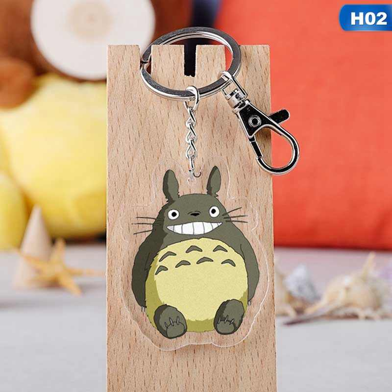 1 Pcs Bonito Totoro Keychain Dos Desenhos Animados A Viagem de Chihiro Sem Rosto Homens Saco Encantos Chaveiro Bolsa Pingente de Chave Anéis Presente Acessório