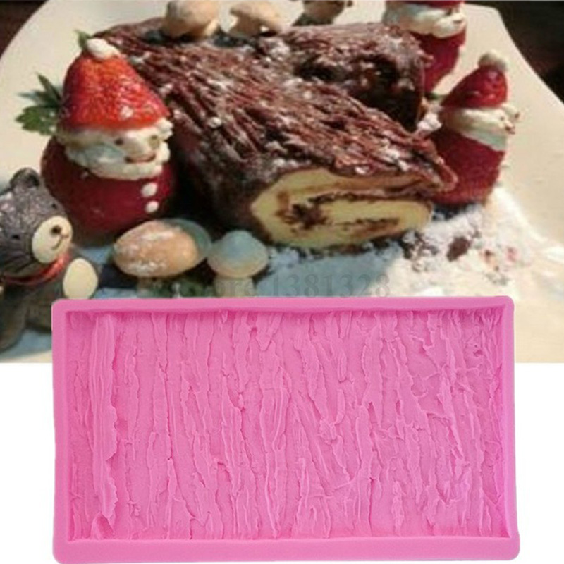 3D Reverse sugar molding Tree skin silicone mould for polymer clay molds confectionery accessories cake decoration tools F-0597