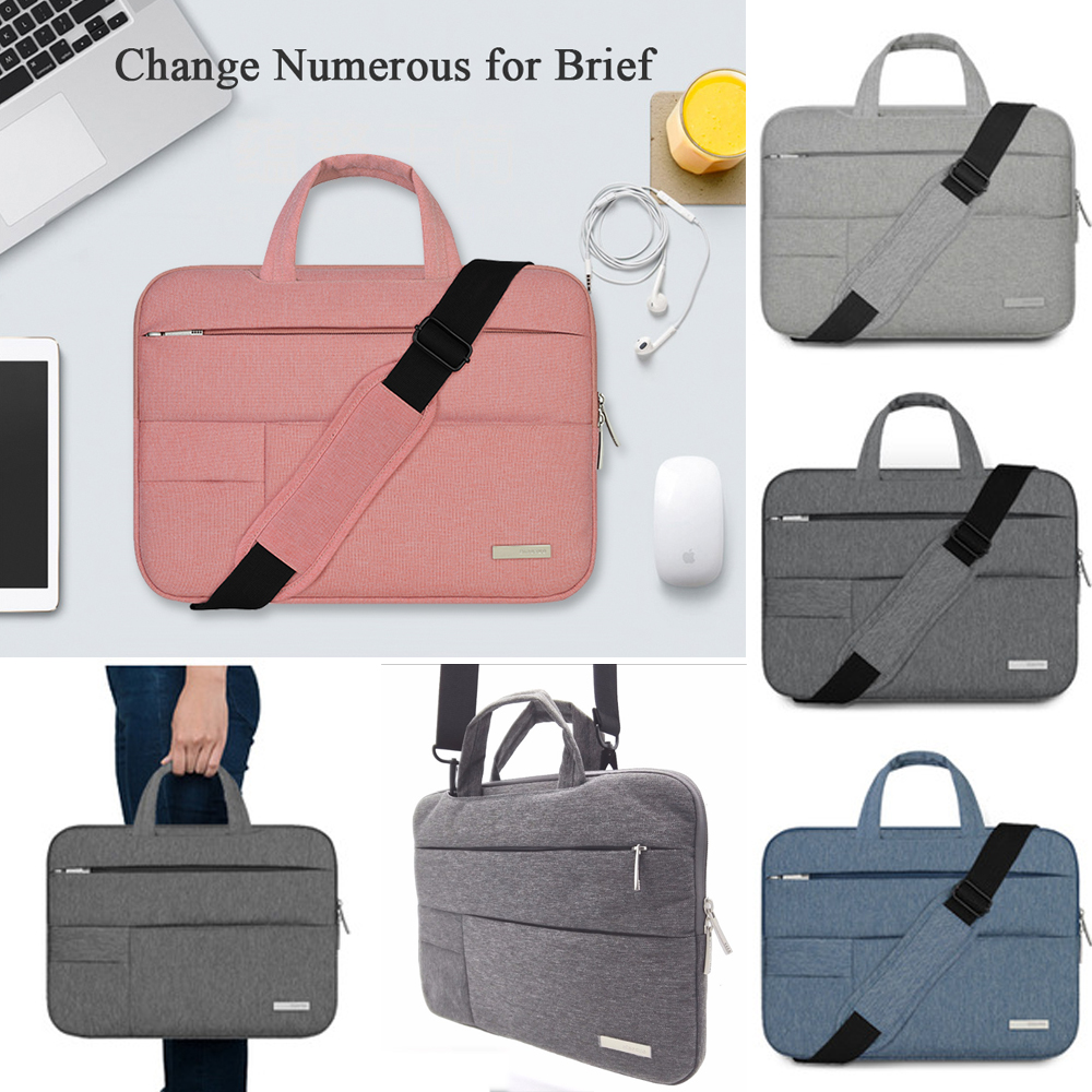 Nylon Laptop Sleeve Shoulder Bag Case For Apple Macbook Air Pro Lenovo Dell HP Asus Acer Notebook bags 11 12 13 14 15.4 15.6 nylon laptop bag case sleeve for xiaomi 13 3 macbook air pro notebook handbag for dell hp asus acer lenovo 11 12 13 15 6