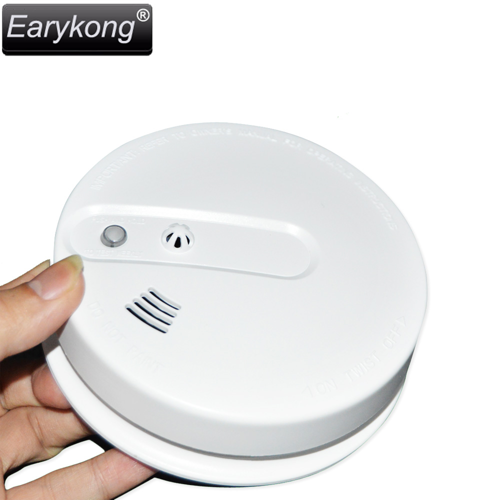 2016 new Free shipping High quality GSM Alarm System 433MHz smoke temperature detector for Wireless home security alarm system yongkang wireless 433mhz 1527 200k smoke detector for gsm alarm system
