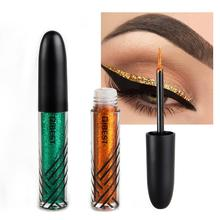 Qibest Professional Makeup Silver Rose Gold Color Liquid Glitter Eyeliner New Shiny Eye Liners for Women Shimmer Cosmetics