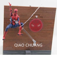 NEW Spider Man Homecoming Tamarshii Option Act Wall PVC Action Figure Collectible Model Toy Cartoon Exquisite