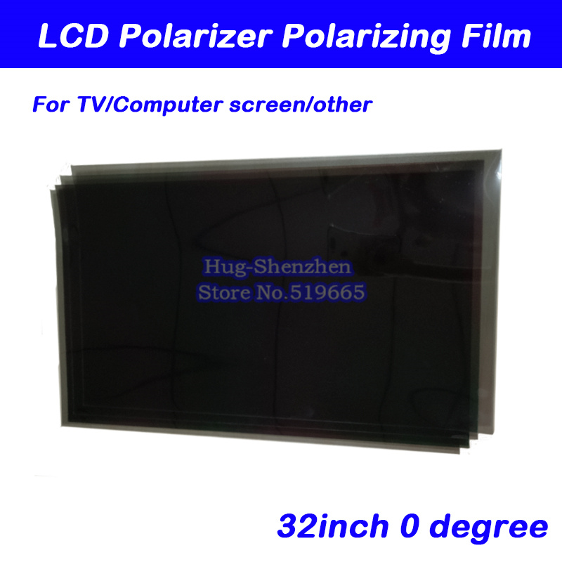 10pcs New 32inch 32 Inch 0 Degree Glossy 709MM*405MM LCD Polarizer Polarizing Film For LCD LED IPS Screen For TV
