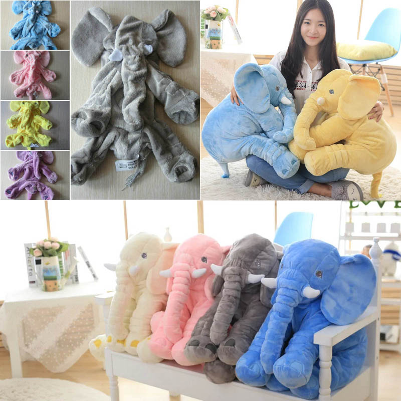 38/60cm Elephant Skin Plush Toy Stuffed plush elephant toys Kids Toy Anminal Sleep Pillow Baby Calm Doll Gift For Child inc new black beige women s 14 textured snake print pleated mini skirt $89 030