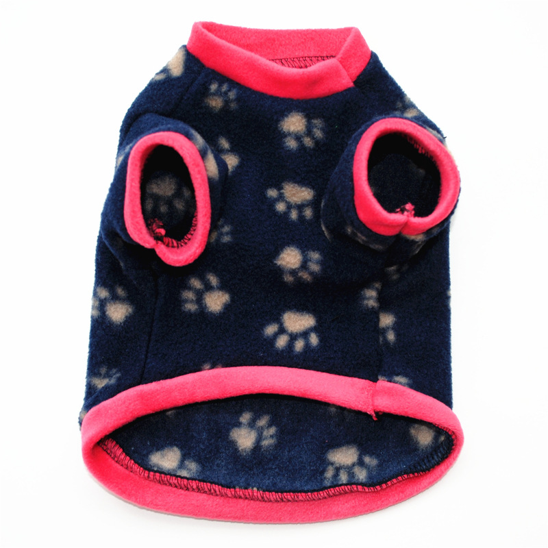 Image 5 - Warm Fleece Pet Dog Clothes Cute Skull Printed Pet Coat Puppy Dogs Shirt Jacket French Bulldog Pullover Camouflage Dog Clothing-in Dog Coats & Jackets from Home & Garden