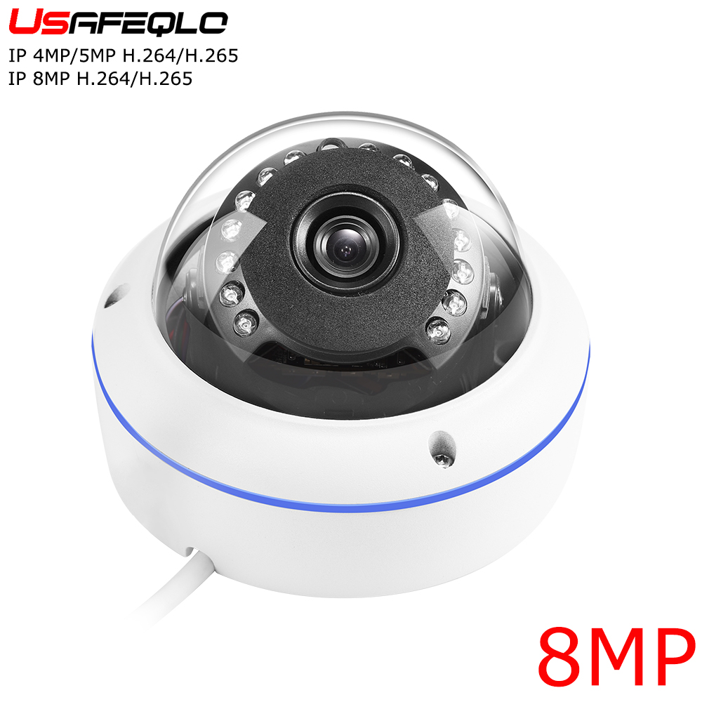 USAFEQLO Wide angle Metail Dome camera HD IP camera 4MP 5MP 8MP Indoor Outdoor H 264