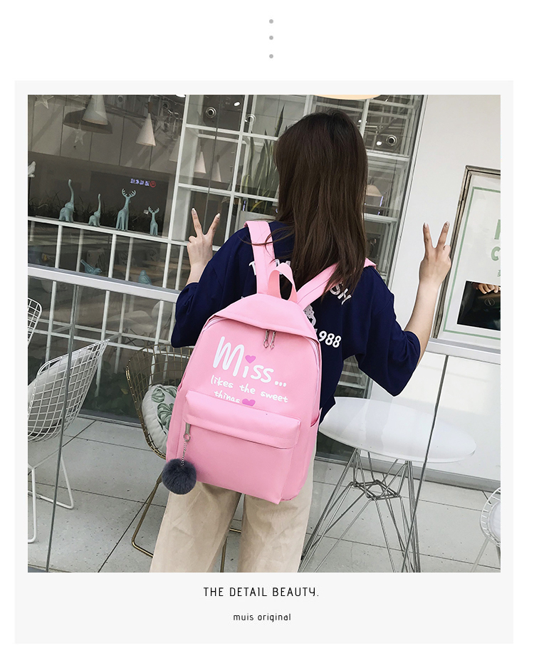 HTB1BFQcQgHqK1RjSZFEq6AGMXXa1 4Pcs/set Women School Backpacks Nylon Schoolbag For Teenagers Girls Student Book Bag Boys Satchel Bolsas Mochilas Sac A Dos