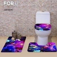 2017 multi galaxy 3 pcs set da bagno piedistallo tappeto + coperchio coperchio wc + bagno mat carpet trasporto di goccia