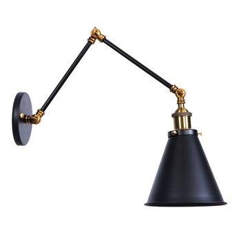 Industrial Vintage Rocker Lamp LED Wall Light Fixtures Iron Long Arm Adjust Edison Wall Sconces Loft Decor Lamps Lamara Pared