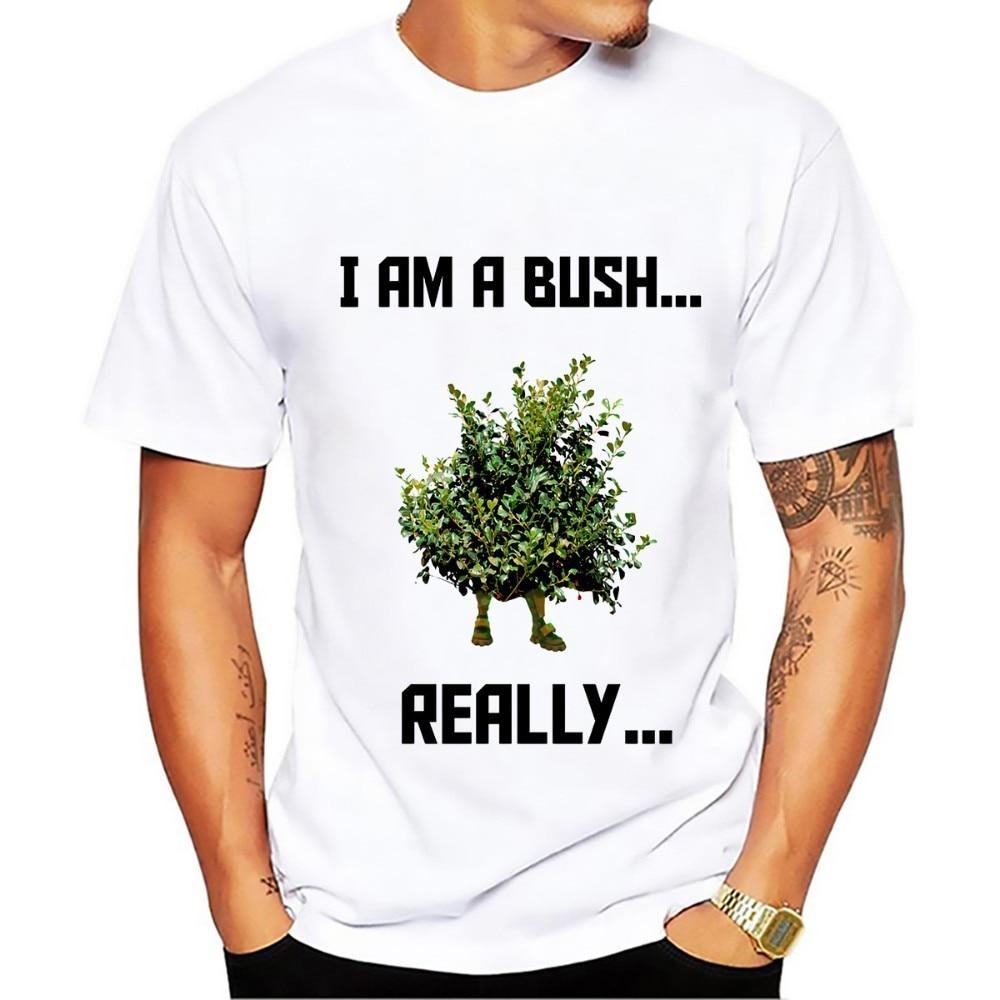 hide in bush fortnite funny tshirt men 2018 summer new white casual creative cool short sleeve t shirt homme no glue print