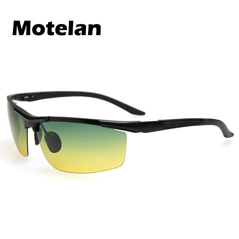 New Men s day night car driving sunglasses Aluminum magnesium frame UV400 Protection Sun glasses font