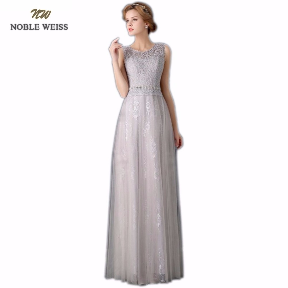 NOBLE WEISS Floor-Length Vestido De Festa Longo Vintage Lace Crystal Evening Dress Custom Size Robe De Soiree Prom Dresses