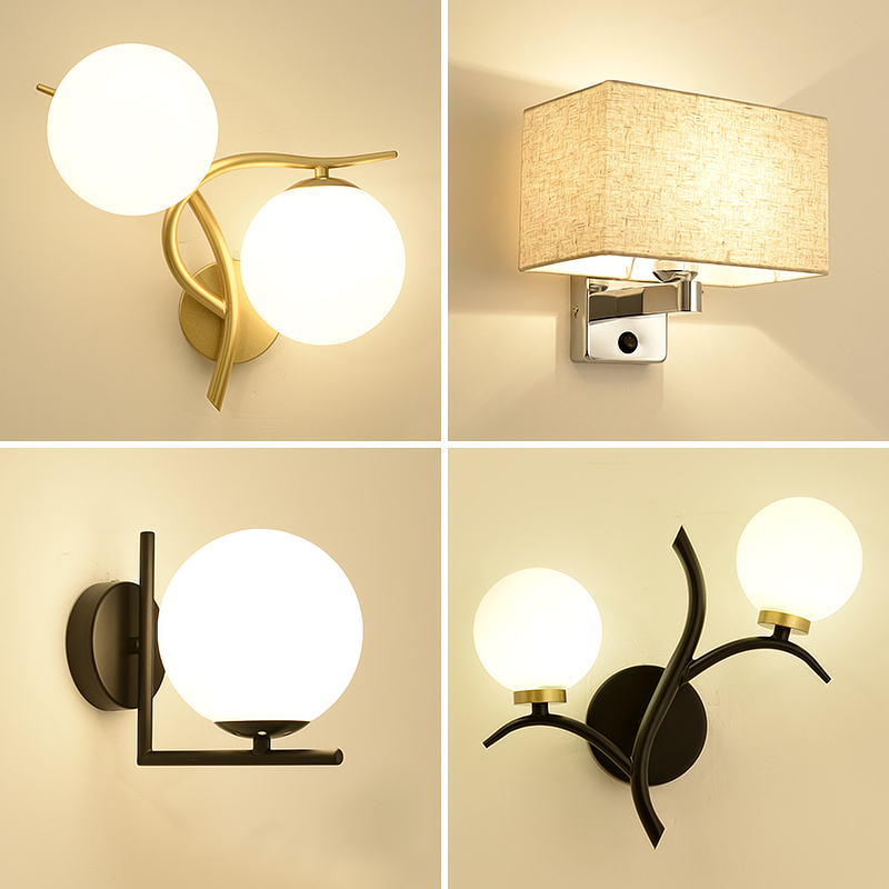 Nordic bedside lamp wall lamp bedroom modern simple personality lamp living room TV background wall aisle wall lampNordic bedside lamp wall lamp bedroom modern simple personality lamp living room TV background wall aisle wall lamp