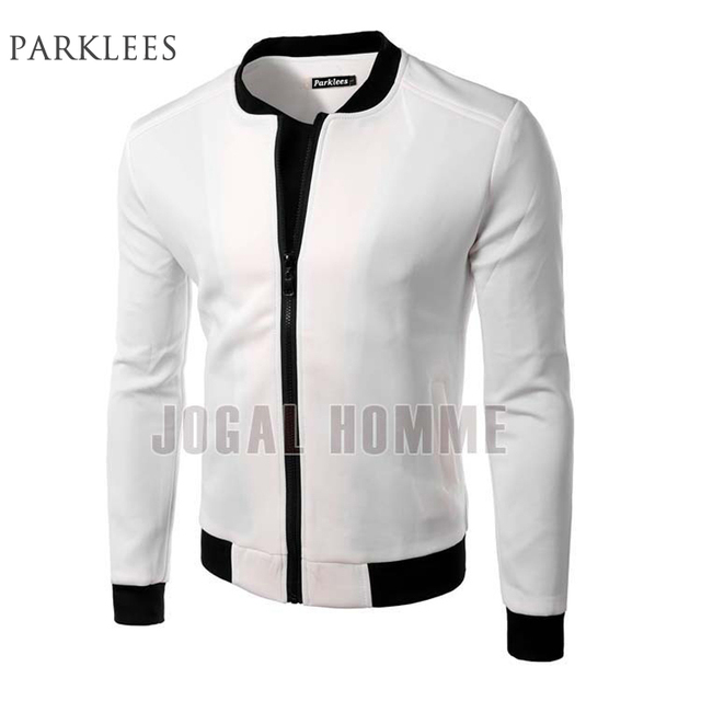New White Jacket Men 2016 Fashion Design Mens Slim Fit Zipper ...