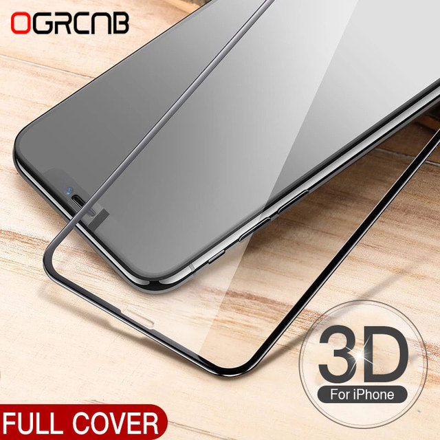 3D Tempered Glass For iphone 8 6 6S 7 Plus Full Screen Protector Aluminum Alloy For iPhone 6 6s 7 8 Protective glass