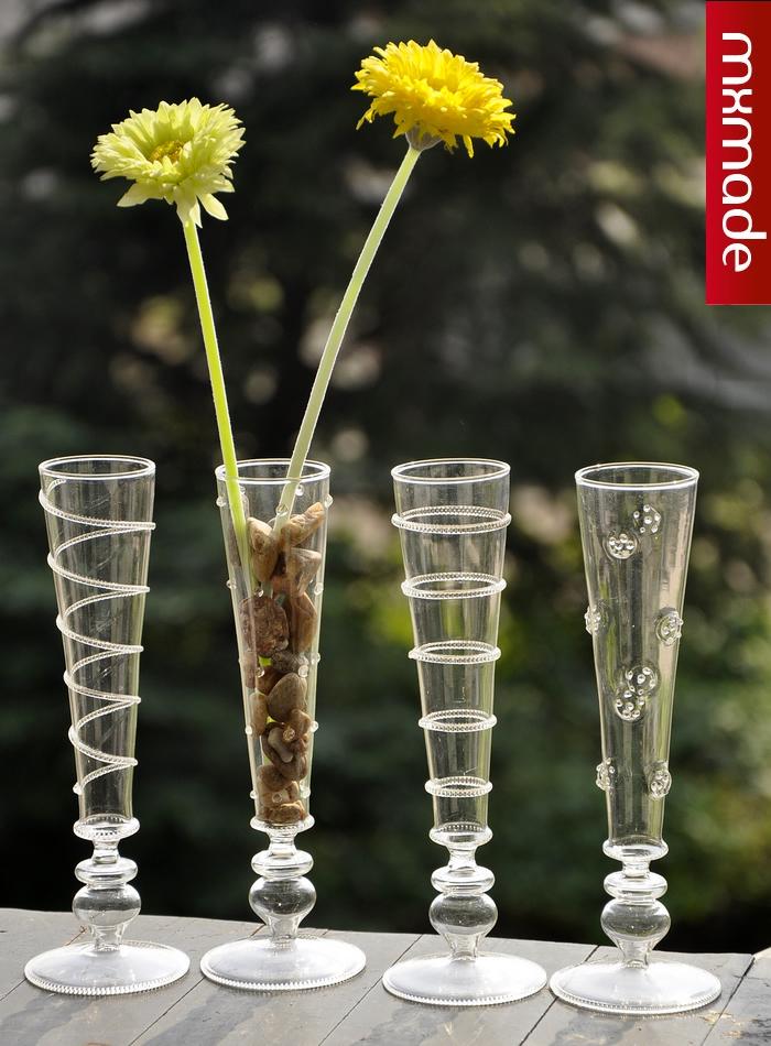 moda mxmade florero de cristal jarrn