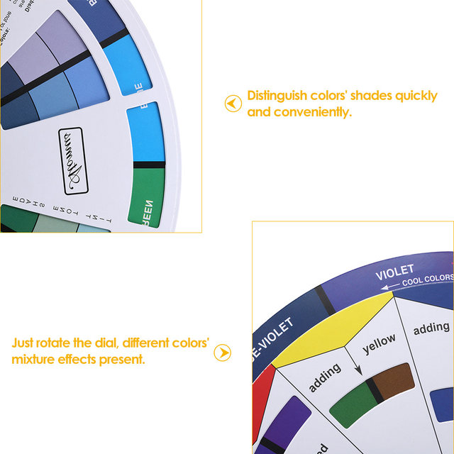 Online Shop Tattoo Ink Color Wheel Chart Micro Pigment Mix Guide Supplies For Permanent Makeup Eyebrow Eyeliner Lip