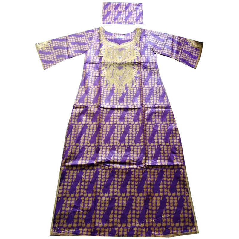 MD אפריקאי שמלות לנשים 2019 חדש האפריקאי דאשיקי רקמת שמלה בתוספת גודל גבירותיי בגדים עם ראש כורכת