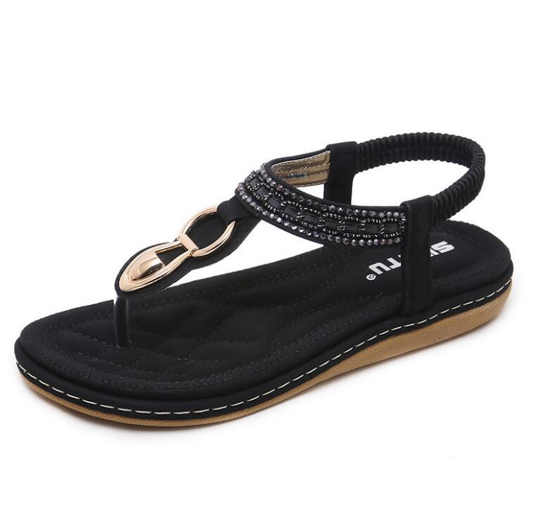 HTB1BFRua7Y2gK0jSZFgq6A5OFXaH Summer Shoes Women Bohemia Ethnic Flip Flops Soft Flat Sandals Woman Casual Comfortable Plus Size Wedge Sandals 35-45