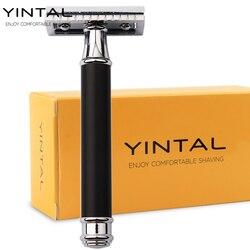YINTAL 1 الحلاقة النحاس تصفيح الرجال على الوجهين الحلاقة اليدوية استبدال البرونزية نمط النحاس مقبض الحلاقة إزالة الشعر