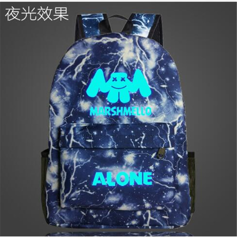 Marshmello DJ ALONE Galaxy Space Backpack Laptop Backpack for Teenage Boys Girls Travel Bags Kids School BackpacksMarshmello DJ ALONE Galaxy Space Backpack Laptop Backpack for Teenage Boys Girls Travel Bags Kids School Backpacks