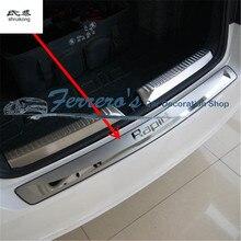 Нержавеющая сталь задняя Задняя Крышка багажника Накладка Защитная педаль для 2012- SKODA Rapid/Rapid Spaceback