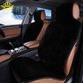 Asiento de coche cubiertas frontales faux fur lindo interior del coche accesorios styling invierno nueva felpa almohadilla cubierta de asiento de coche cojín