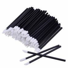 100/50pcs Black Disposable Makeup Lip Brush Lipstick Gloss Wands Applicator Makeup Tools Fashion Designed цены