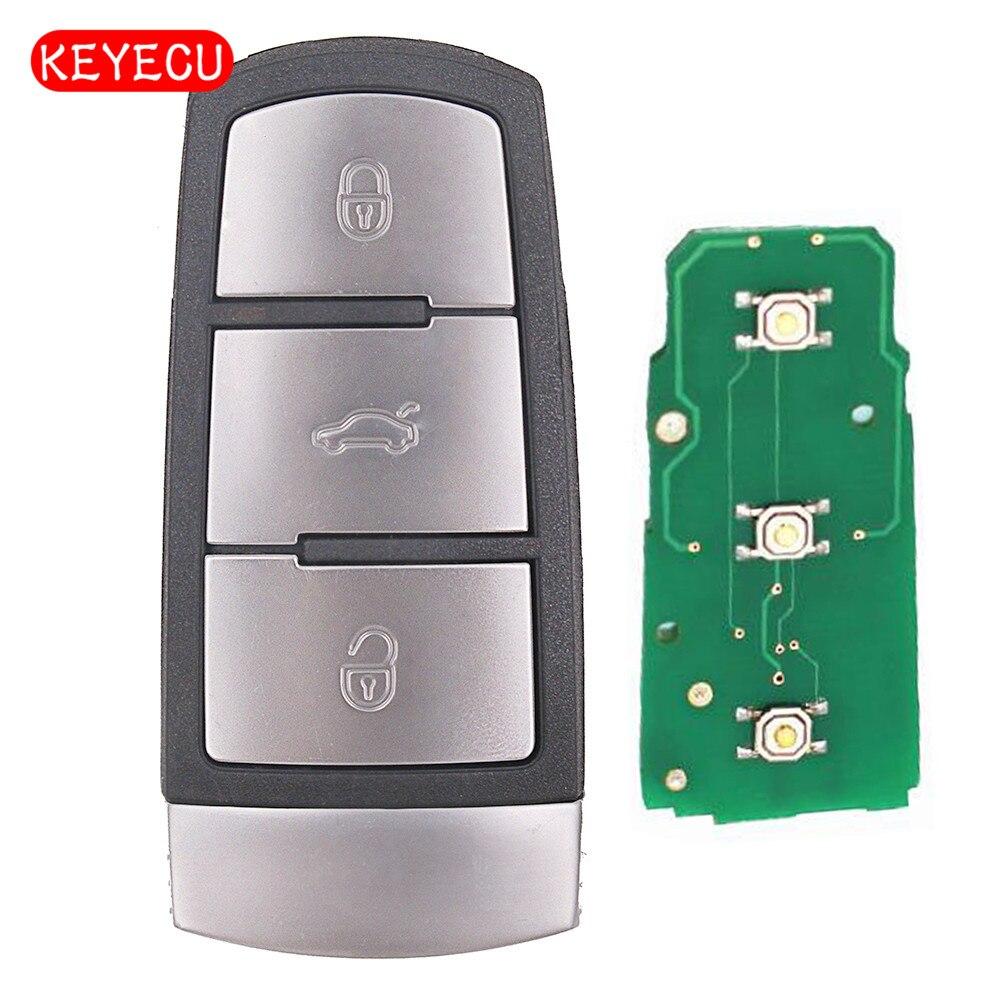Keyecu Smart Clé De Voiture À Distance Fob 3 Bouton 433 mhz PCF7946 ID46 pour VW Volkswagen Passat/Passat CC 2005 -2014 3C0959752BG
