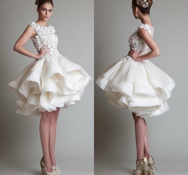 a1e5161b5a0 2016 колен коктейльное платье рукавом кружева ну вечеринку платье  элегантный паффи возвращения на родину платья линия