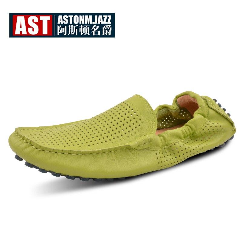 Ayakk.'ten Erkek Rahat Ayakkabılar'de 7 renkler ABD Boyutu 6 11 Yeni Rahat Deri Erkek Kesimler Sürüş Mokasen Loafer Flats Ayakkabı'da  Grup 1