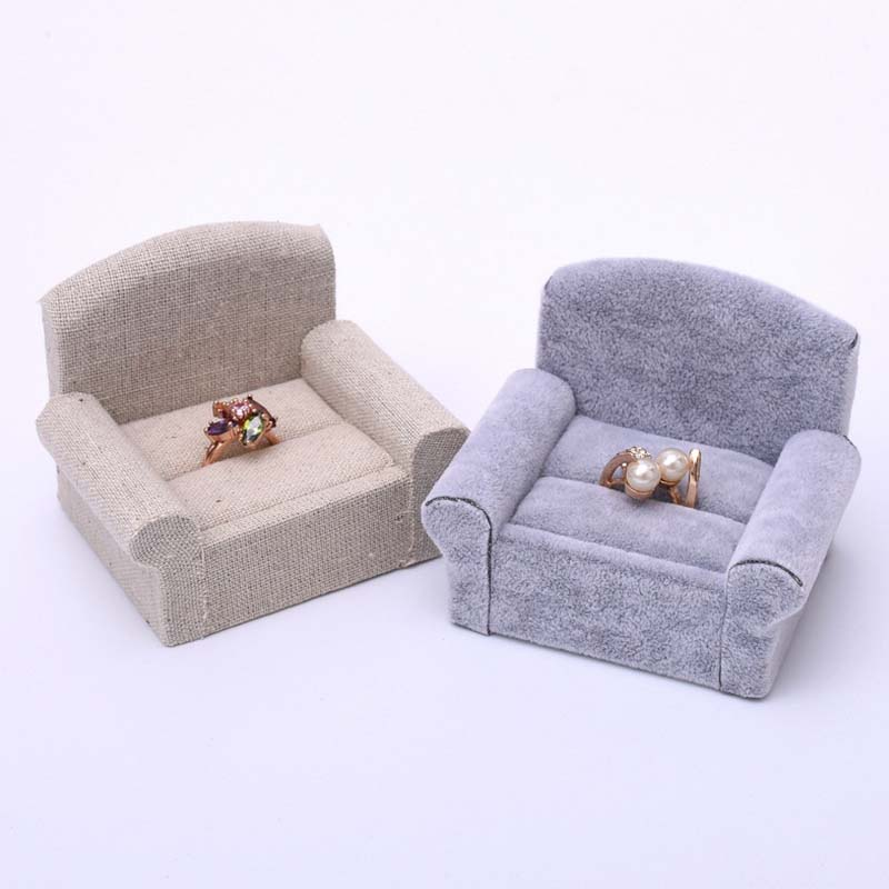 Linen Sofa Seat Jewelry Ring Display Shelf Jewelry Window
