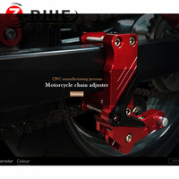 Universal Motorcycle Rear Axle Spindle Chain Adjuster Blocks chain adjuster tensioners For ktm yamaha r1 ninja 300 motocross R3